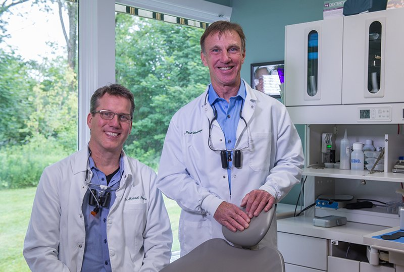 Dr. Melkers and Dr. Wonsavage who are dentists in Hanover, NH at Lyme Road Dental.
