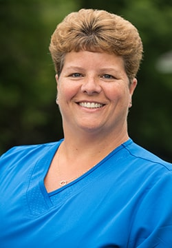 Melissa who is the Dental Hygienist at Lyme Road Dental and a part of our Hanover dental team