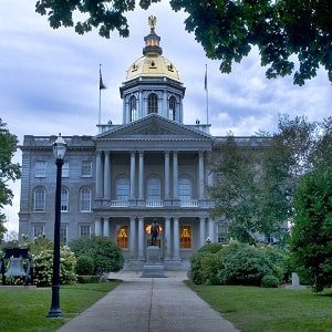 Capitol building in Concord, New Hampshire.