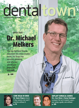 Cover of dentaltown magazine featuring Dr. Michael Melkers